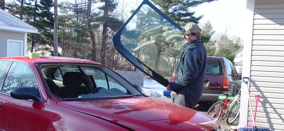 Charlie Replacing a Windshield